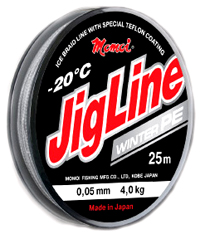Шнур JigLine Winter 0,10 мм, 7,0 кг, 25 м, цвет серый